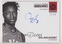 Rookie Endorsements - OG Anunoby [EXtoNM] #25/25