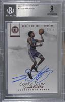Rookie Notable Signatures - De'Aaron Fox [BGS 9 MINT] #/25