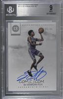 Rookie Notable Signatures - De'Aaron Fox [BGS 9 MINT] #/99