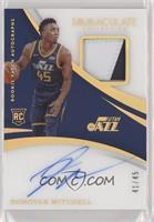 Rookie Patch Autographs - Donovan Mitchell #/45