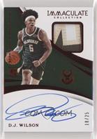 Rookie Patch Autographs - D.J. Wilson #/25