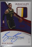 Rookie Patch Autographs - Kyle Kuzma [Noted] #/25