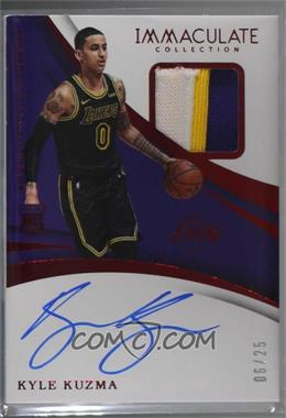 2017-18 Panini Immaculate Collection - [Base] - Red #117 - Rookie Patch Autographs - Kyle Kuzma /25