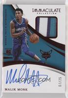 Rookie Patch Autographs - Malik Monk #/25