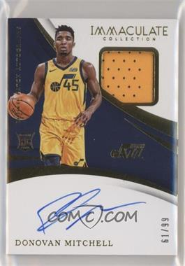 2017-18 Panini Immaculate Collection - [Base] #102 - Rookie Patch Autographs - Donovan Mitchell /99