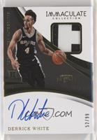 Rookie Patch Autographs - Derrick White #/99