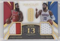 James Harden, Paul George #/13