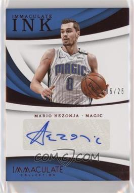 2017-18 Panini Immaculate Collection - Immaculate Ink - Red #II-MHZ - Mario Hezonja /25