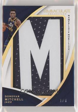 2017-18 Panini Immaculate Collection - Jumbo Patches - Nameplate Nobility #JP-DML - Donovan Mitchell /8