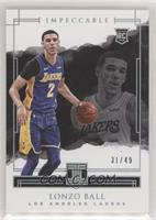 Lonzo Ball #/49