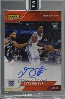 NBA Tip-Off - De'Aaron Fox [Uncirculated] #/5