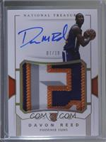 Rookie Patch Autographs - Davon Reed /10