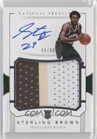 Rookie Patch Autographs - Sterling Brown #49/99