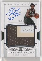 Rookie Patch Autographs - Sterling Brown #/99