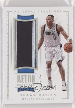 2017-18 Panini National Treasures - Retro Materials - Platinum #RM-11 - Shawn Marion /1