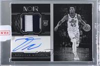 Autographed Prime Rookies Black and White - Donovan Mitchell [Uncirculated] #/99