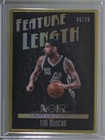 Metal Frame Feature Length - Tim Duncan #/25