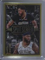 Metal Frame Split Screen - Anthony Davis, DeMarcus Cousins #/25