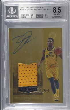 2017-18 Panini Opulence - [Base] #138 - Rookie Patch Autographs - Donovan Mitchell /79 [BGS8.5NM‑MT+]