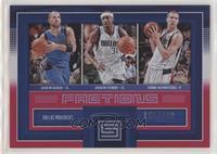 Jason Kidd, Jason Terry, Dirk Nowitzki #/299
