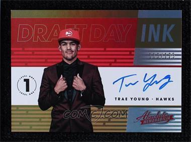 2018-19 Panini Absolute Memorabilia - Draft Day Ink #DD-TYG - Trae Young /125