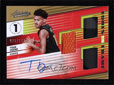 2018-19 Panini Absolute Memorabilia - Tools of the Trade Three Swatch Signatures #T3-TYG - Trae Young /149