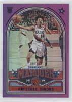 Marquee - Anfernee Simons #/49