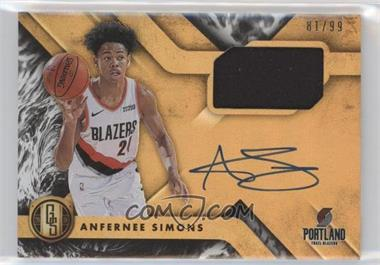 2018-19 Panini Chronicles - Gold Standard Rookie Jersey Autographs #GS-ASM - Anfernee Simons /99
