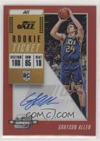 Rookie Season Ticket - Grayson Allen #/149