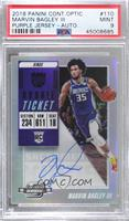 Rookie Season Ticket - Marvin Bagley III [PSA 9 MINT]