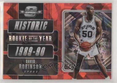 2018-19 Panini Contenders Optic - Historic Rookies of the Year Prizms - Red Cracked Ice #12 - David Robinson