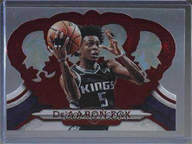 2018-19 Panini Crown Royale - [Base] - Red Crystal #57 - De'Aaron Fox /49