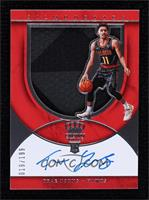 Rookie Silhouettes Autograph Jersey RPA - Trae Young [Noted] #19/199