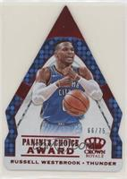 Russell Westbrook #/75