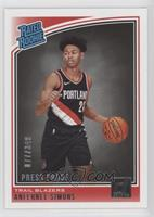 Rated Rookies - Anfernee Simons /349