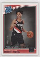 Rated Rookies - Anfernee Simons #/349