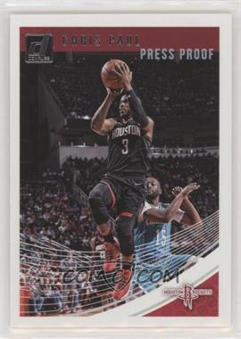 2018-19 Panini Donruss - [Base] - Press Proof Silver #52 - Chris Paul /349 [EX to NM]