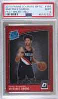 Rated Rookies - Anfernee Simons [PSA9MINT] #/85