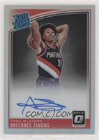 Rated Rookies Signatures - Anfernee Simons