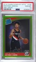 Rated Rookies - Anfernee Simons [PSA 10 GEM MT] #/149