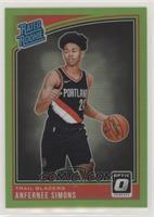 Rated Rookies - Anfernee Simons #/149