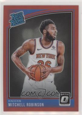 2018-19 Panini Donruss Optic - [Base] - Red #163 - Rated Rookies - Mitchell Robinson /99