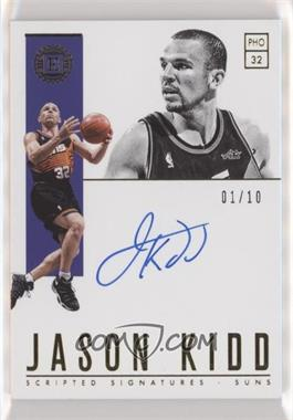 2018-19 Panini Encased - Scripted Signatures - Gold #SC-JKD - Jason Kidd /10