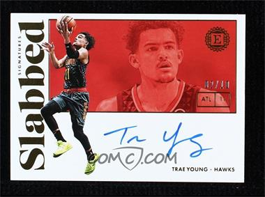2018-19 Panini Encased - Slabbed Signatures - Gold #SS-TYG - Trae Young /10
