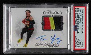 2018-19 Panini Flawless - Signature Prime Materials #SP-TYG - Trae Young /22 [PSA9MINT]