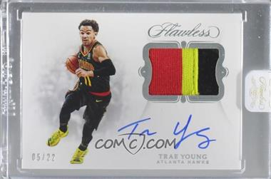 2018-19 Panini Flawless - Signature Prime Materials #SP-TYG - Trae Young /22 [Uncirculated]