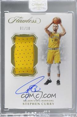 2018-19 Panini Flawless - Vertical Patch Autographs - Gold #VP-SCY - Stephen Curry /10 [Uncirculated]