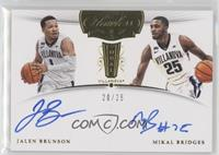 Mikal Bridges, Jalen Brunson /25