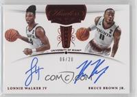 Bruce Brown, Lonnie Walker IV #/20