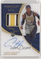 Rookie Patch Autographs - Aaron Holiday #/24